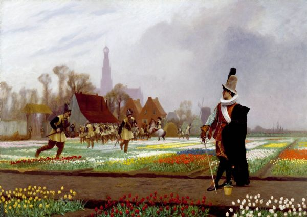 Gerome, Jean Leon: The Tulip Folly. Fine Art Print/Poster. Sizes: A4/A3/A2/A1 (002848)